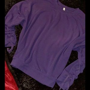 | Ladies Fabletics Cinched Pullover (Purple) Small